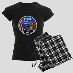 F-16 Falcon Women's Dark Pajamas