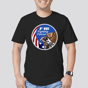 F-16 Falcon Men's Fitted T-Shirt (dark)