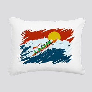 OC-6 Paddlers Rectangular Canvas Pillow