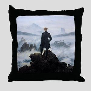 Caspar David Friedrich Wanderer Throw Pillow
