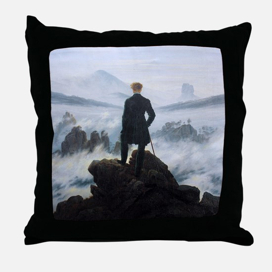 Caspar David Friedrich Wanderer Throw Pillow