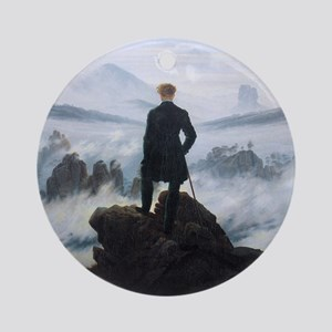 Caspar David Friedrich Wanderer Round Ornament