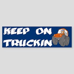 Keep on Truckin' Redneck Bumper Sticker