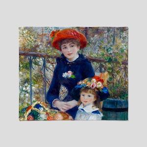 Pierre-Auguste Renoir Two Sisters Throw Blanket
