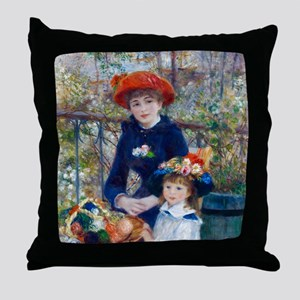 Pierre-Auguste Renoir Two Sisters Throw Pillow