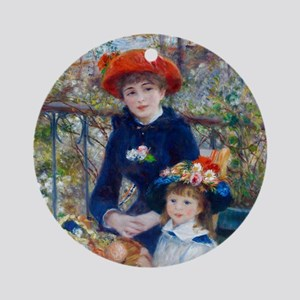 Pierre-Auguste Renoir Two Sisters Round Ornament