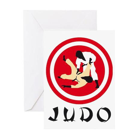 judo fight Greeting Card