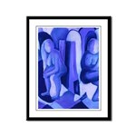 Reflections in Blue II Framed Panel Print