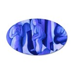 Reflections in Blue II 20x12 Oval Wall Decal