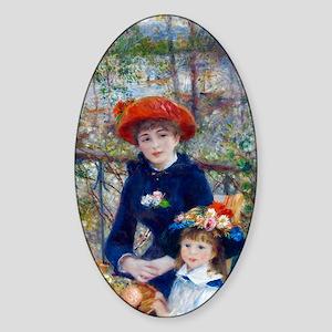 Pierre-Auguste Renoir Two Sisters Sticker (Oval)