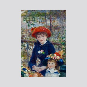 Pierre-Auguste Renoir Two Sisters Rectangle Magnet