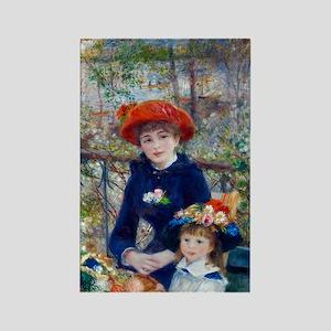 Pierre-Auguste Renoir Two Sisters Rectangle Magnet