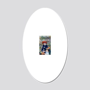 Pierre-Auguste Renoir Two Si 20x12 Oval Wall Decal