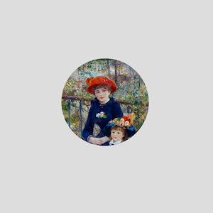 Pierre-Auguste Renoir Two Sisters Mini Button
