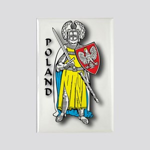 Poland Knight 2 Rectangle Magnet