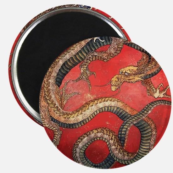 Katsushika Hokusai Dragon Magnet