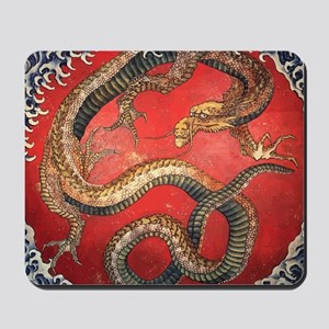 Katsushika Hokusai Dragon Mousepad