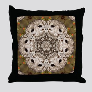 Barred Owl Mandala Throw Pillow