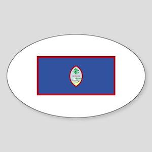 Guam Flag Oval Sticker