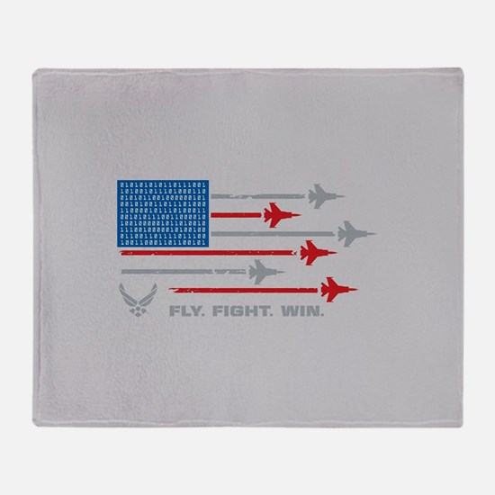 USAF Fly. Fight. Win Throw Blanket
