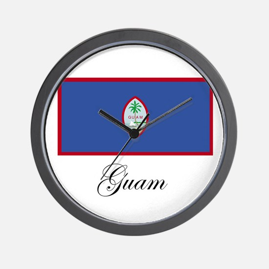 Guam - Flag Wall Clock
