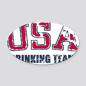 USA Drinking Team Oval Car Magnet