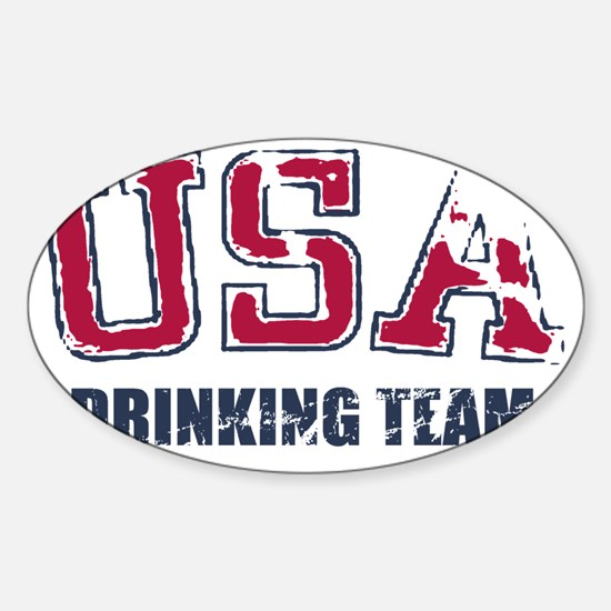 USA Drinking Team Sticker (Oval)