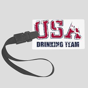 USA Drinking Team Large Luggage Tag
