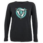 Triskele Ferrets Plus Size Long Sleeve Tee T-Shirt