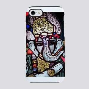 Painted stained glass Ganesh iPhone 7 Tough Case
