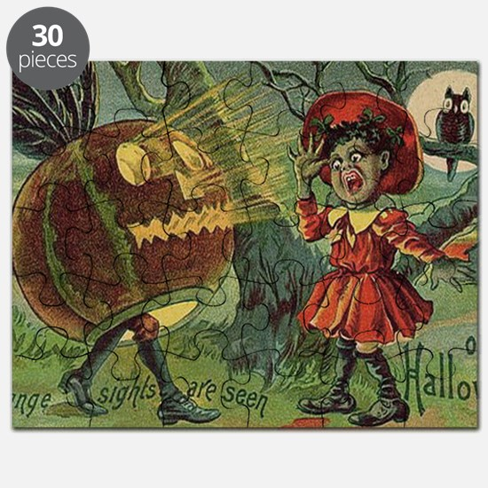 Vintage Halloween Scary Puzzle