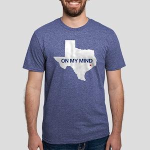 Houston, Texas - On My Mind Mens Tri-blend T-Shirt