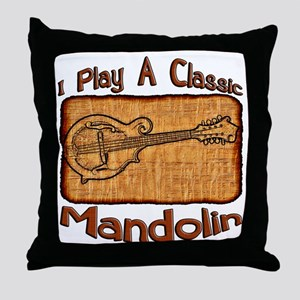 Classic Mandolin Throw Pillow