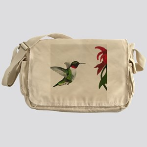 Hummingbird and Bee Balm Messenger Bag