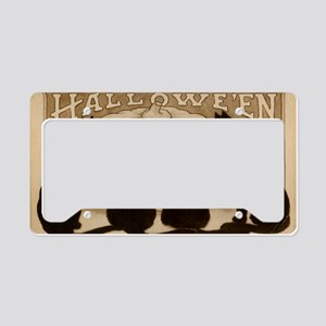 Halloween Black Cats License Plate Holder
