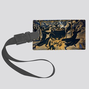 Vintage Halloween Witches Large Luggage Tag