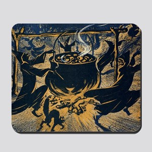 Vintage Halloween Witches Mousepad