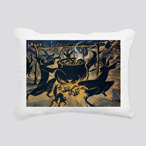 Vintage Halloween Witche Rectangular Canvas Pillow