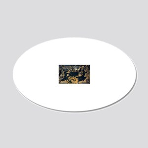 Vintage Halloween Witches 20x12 Oval Wall Decal
