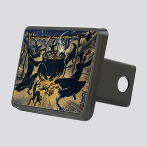 Vintage Halloween Witches Rectangular Hitch Cover