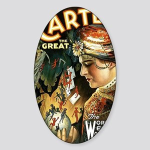 Vintage Magician Carter Sticker (Oval)