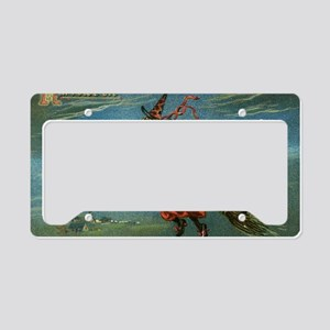 Halloween Witch License Plate Holder