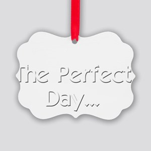 Perfect Day Ukulele Picture Ornament