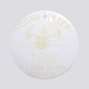 Vintage Vegan for life Round Ornament