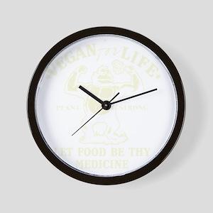 Vintage Vegan for life Wall Clock