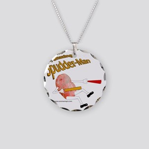 Spudder-Man Necklace Circle Charm