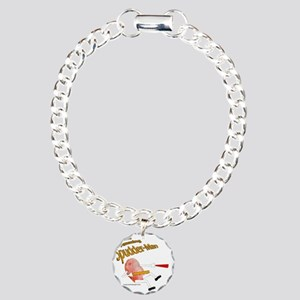Spudder-Man Charm Bracelet, One Charm