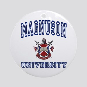 MAGNUSON University Ornament (Round)