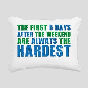 weekend Rectangular Canvas Pillow