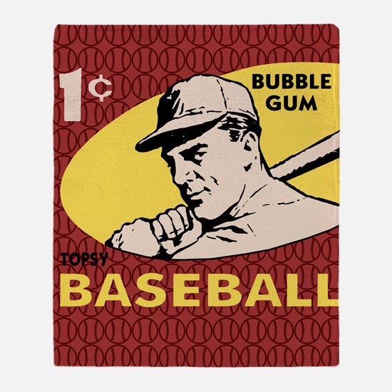 Bubble Gum Baseball Throw Blanket